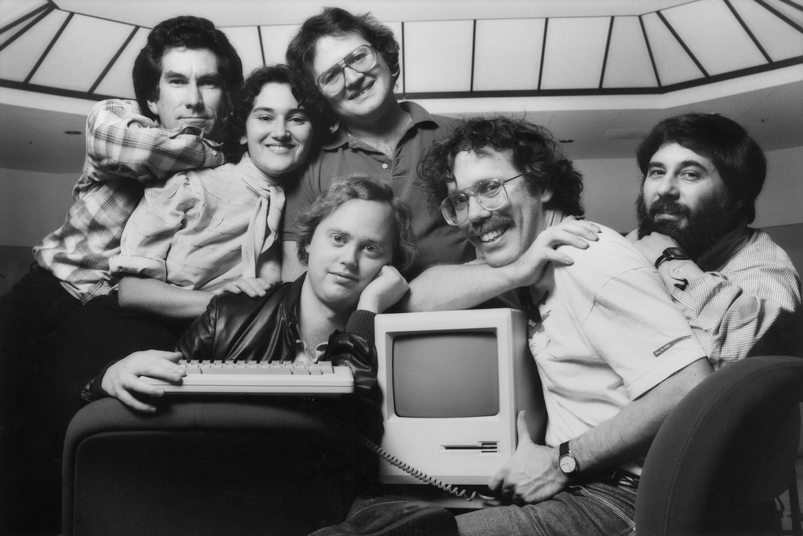 The original Macintosh team in the 1980s